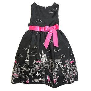 Rare Editions Girls Paris Themed Dress